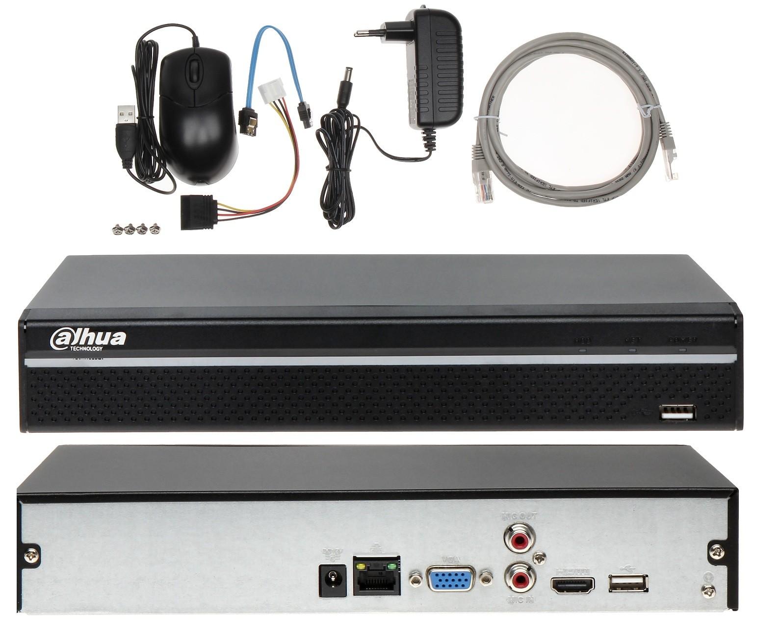 Rejestrator IP DHI-NVR2108HS-4KS2 na 8 kamer Dahua