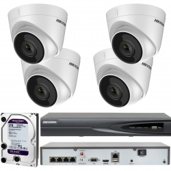 Zestaw do monitoringu IP 4 Kamery 2Mpx Full HD POE