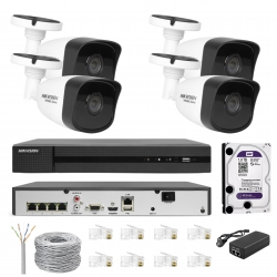 Zestaw do monitoringu domu HIKVISION 2Mpx IP POE IR30