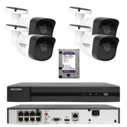 Zestaw do monitoringu domu HIKVISION 4Mpx IP POE IR30